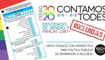 Histórico. El Censo Nacional de Población 2020 incluirá por primera vez al colectivo LGBTIQ+