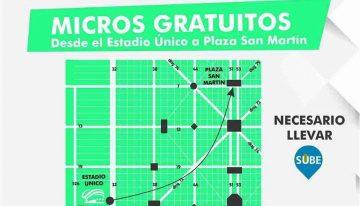Transportes gratuitos desde la apertura del EPNM