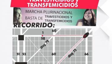 El sábado marchamos en La Plata contra los travesticidios y transfemecidios